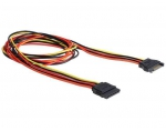 Delock Cable Power SATA 15 Pin male > SATA 15 Pin female extension 100 cm