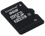 Atminties kortelė Kingston microSDHC 8GB CL4