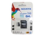 ADATA Premier Pro Micro SDXC UHS-I 64GB (Video Full HD) +SDHC Adapter